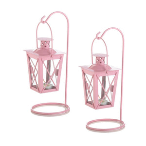 Pretty In Pink Railroad Candle Lanterns - Giftspiration