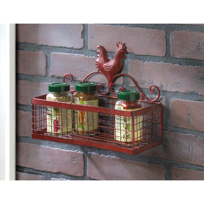 Red Rooster Single Wall Rack - Giftspiration