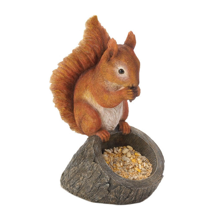 Red Squirrel Bird Feeder - Giftspiration