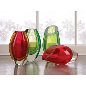 Red Cut Glass Vase - Giftspiration