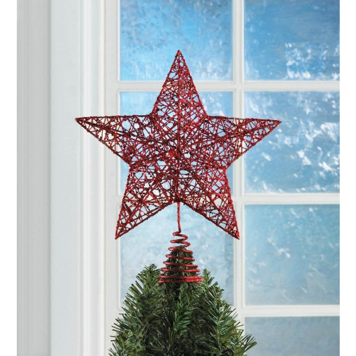 Red Star Christmas Tree Topper - Giftspiration