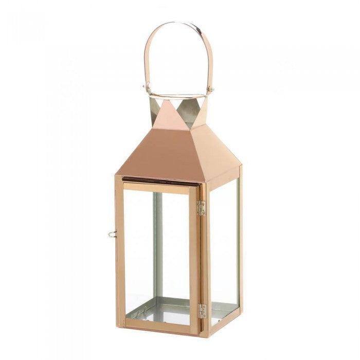 Rose Gold Candle Lantern - Giftspiration