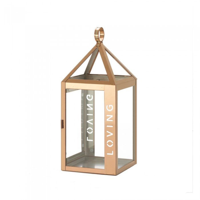 Rose Gold Frame Loving Lantern - Giftspiration