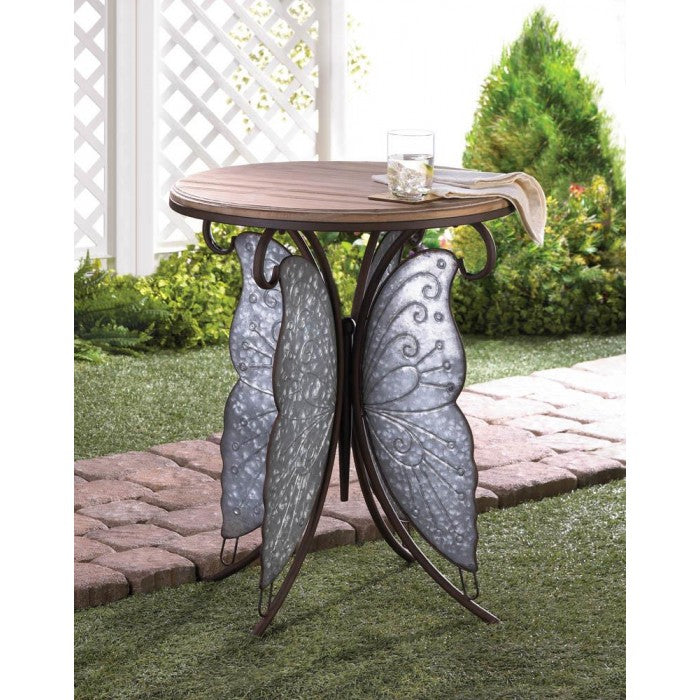 Rustic Butterfly Accent Table - Giftspiration