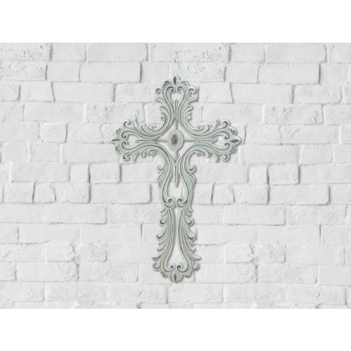 Scalloped White Cross - Giftspiration