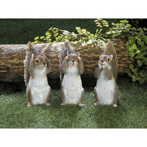 See No Evil Squirrel Figure