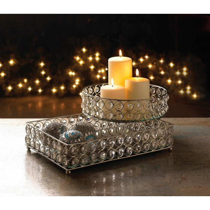 Shimmer Rectangular Jeweled Tray - Giftspiration