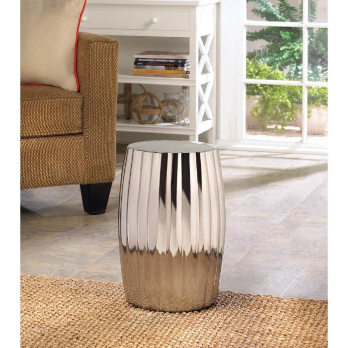 Silver Decorative Stool - Giftspiration