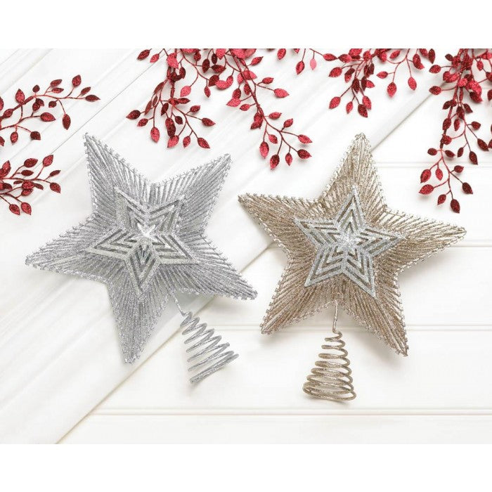 Silver & Gold Star Christmas Tree Topper - Giftspiration