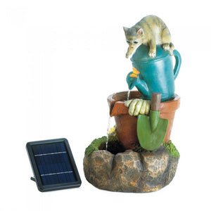 Solar Kitty Cat Fountain - Giftspiration