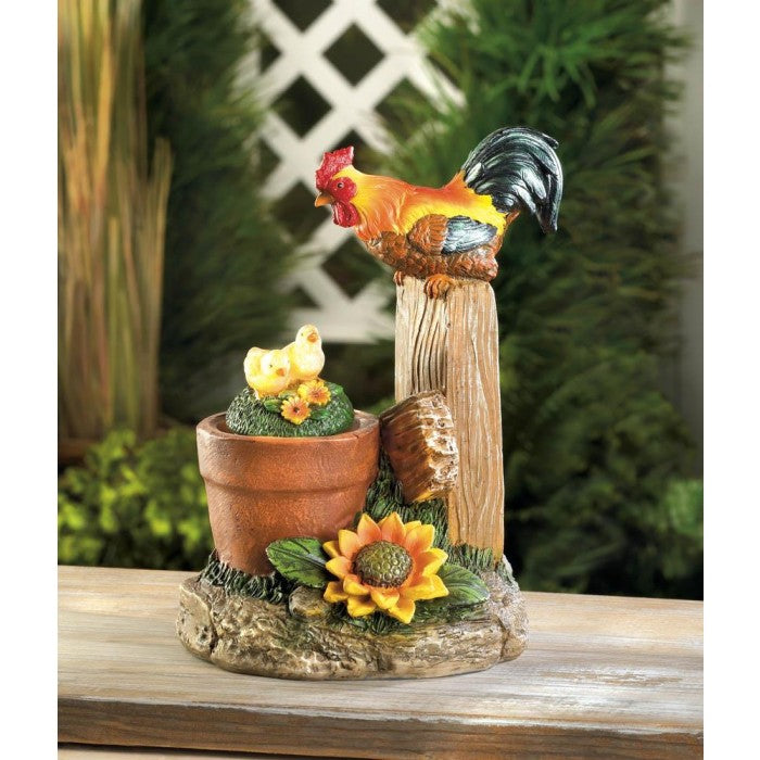 Solar Rotating Rooster Garden Statue - Giftspiration