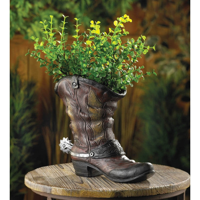 Spurred Cowboy Boot Planter - Giftspiration