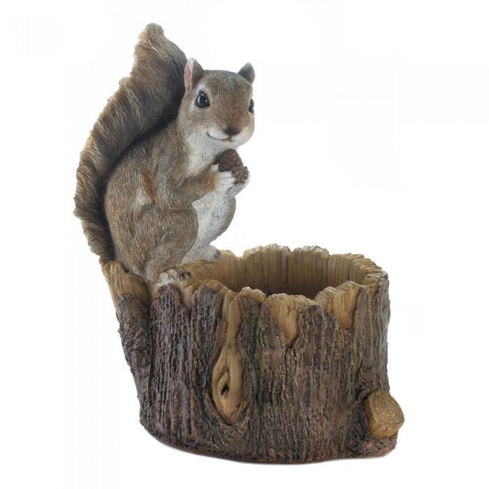 Squirrel Tree Trunk Bird Feeder - Giftspiration