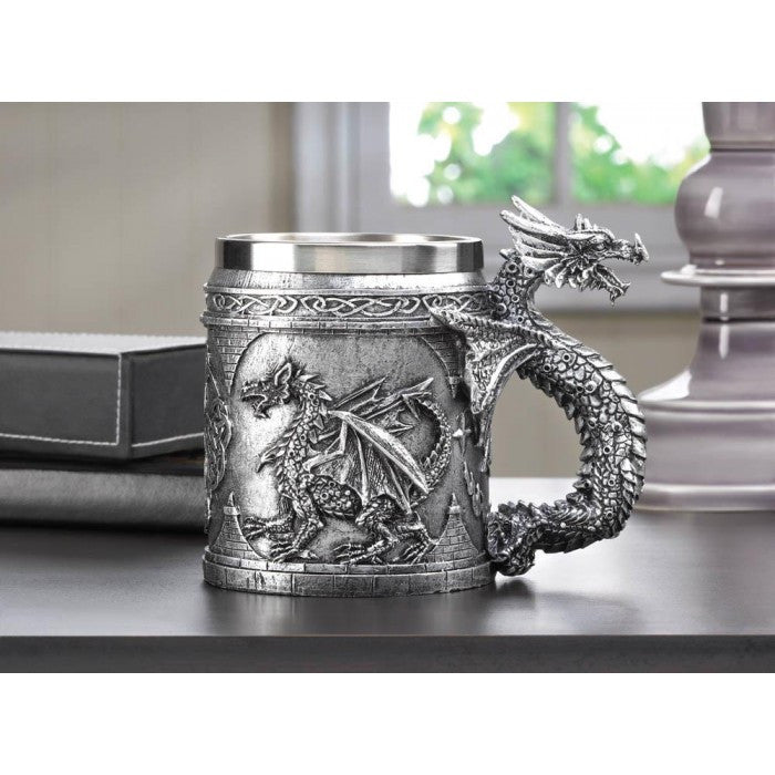 Stainless Steel Dragon Mug - Giftspiration