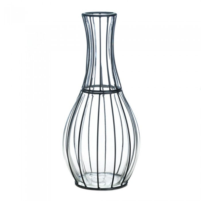 Tall Glass And Metal Vase - Giftspiration