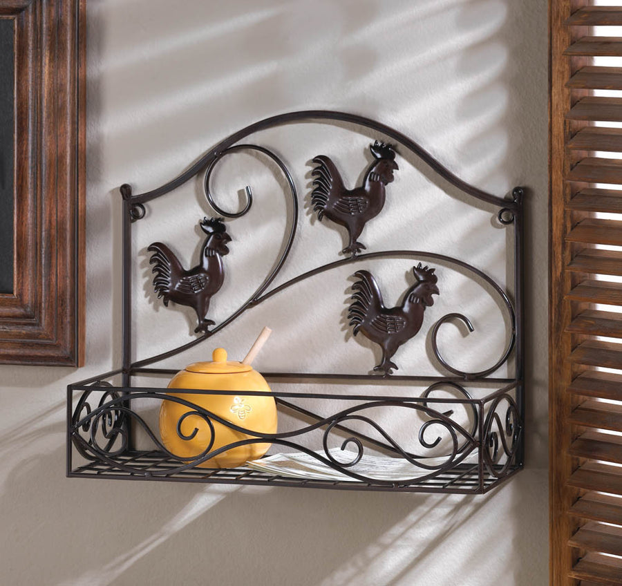 Three Roosters Wall Basket - Giftspiration
