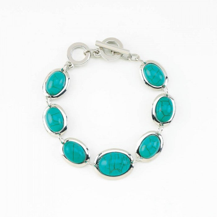 Turquoise Bead Stretch Bracelet - Giftspiration
