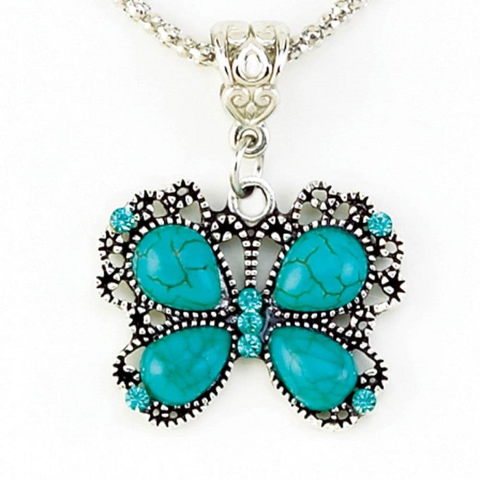 Turquoise Butterfly Jewelry Set - Giftspiration