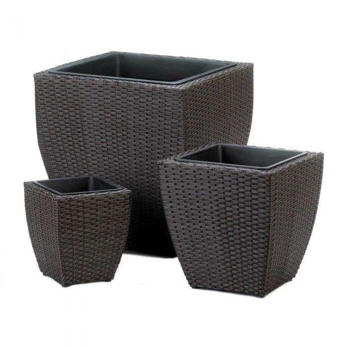 Tuscany Wicker Square Planters - Giftspiration