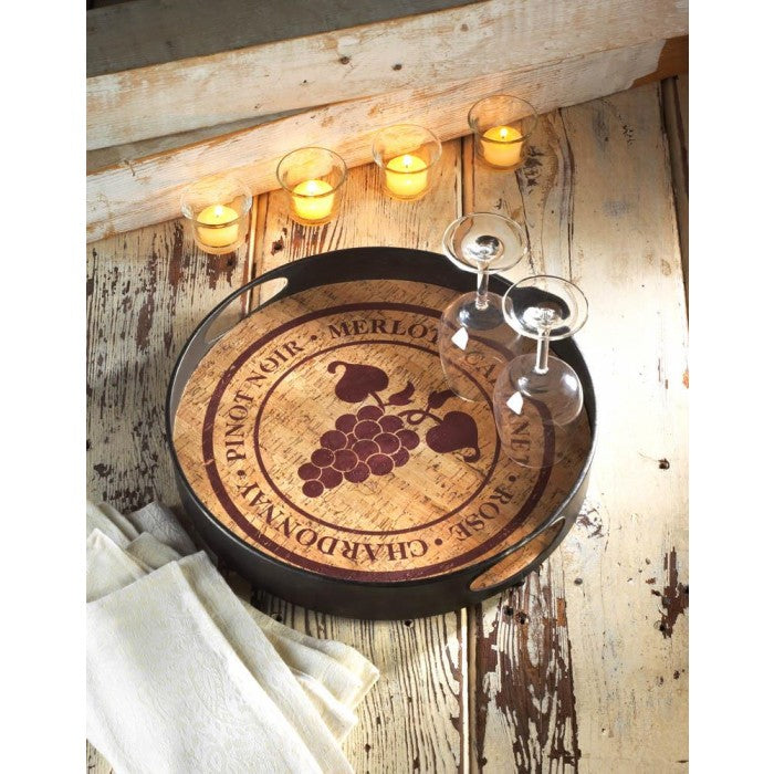 Vineyard Metal Serving Tray - Giftspiration