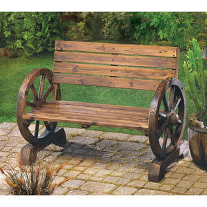 Wagon Wheel Bench - Giftspiration