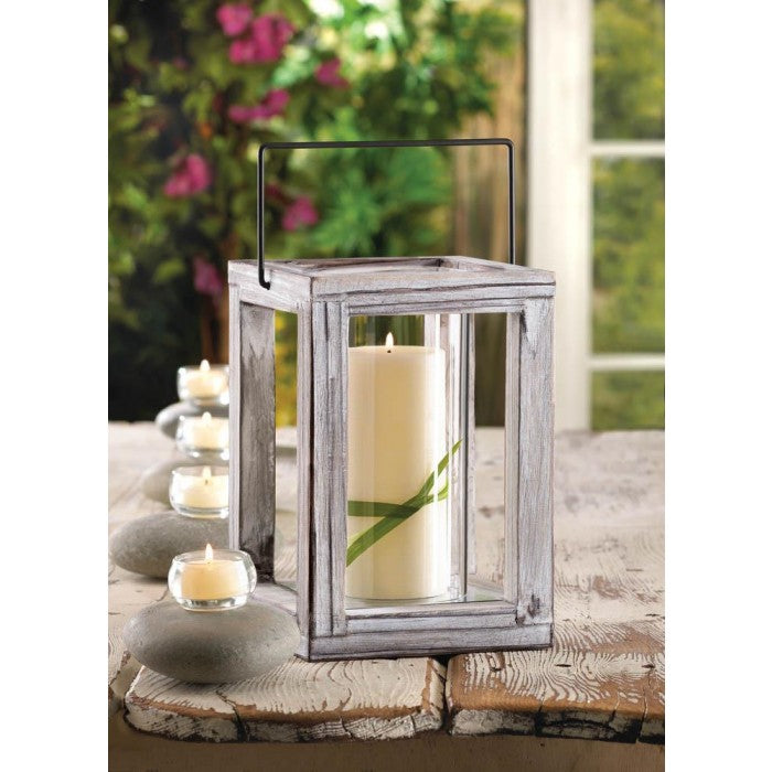 Weathered Garden Wooden Lantern - Giftspiration