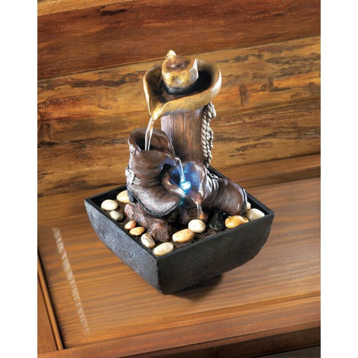 Western Tabletop Fountain - Giftspiration