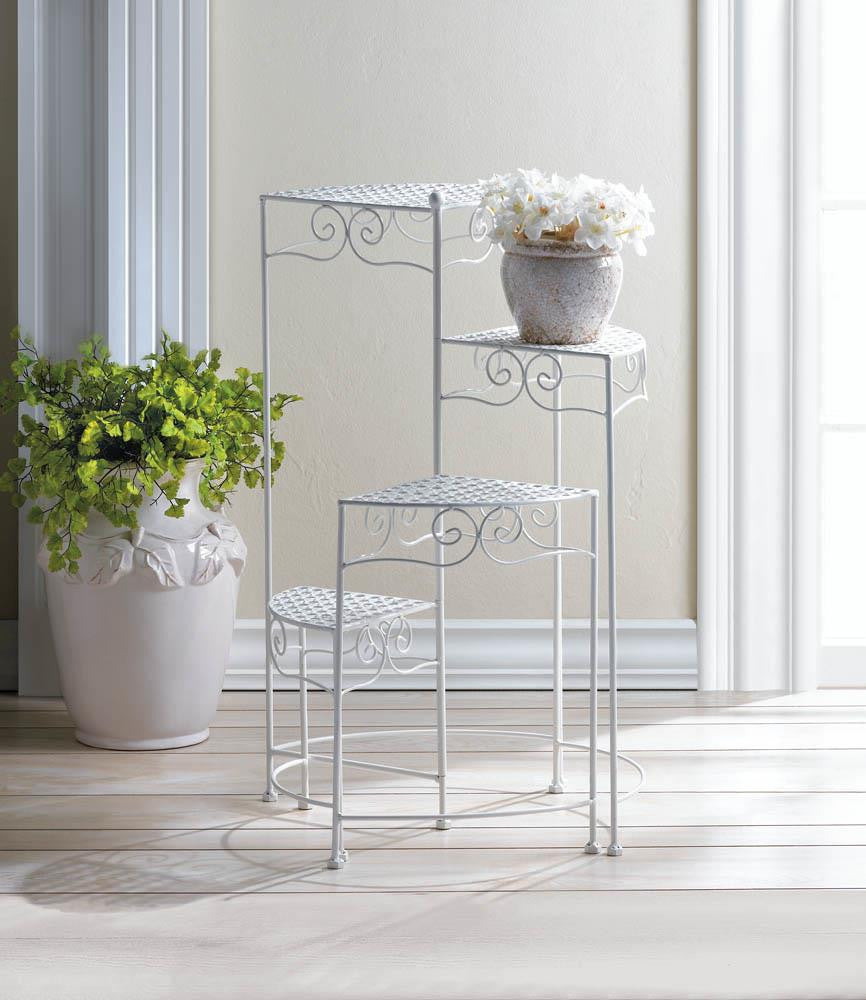 White 4-Tier Plant Stand - Giftspiration