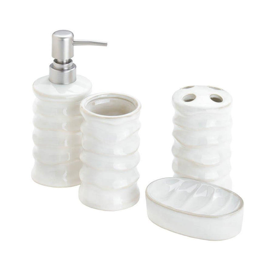 White Bath Accessory Set - Giftspiration