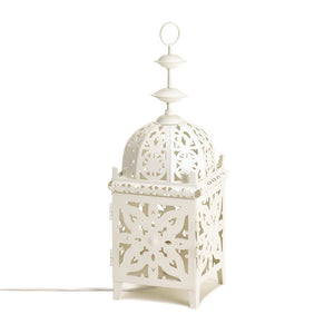 White Medallion Table Lamp - Giftspiration