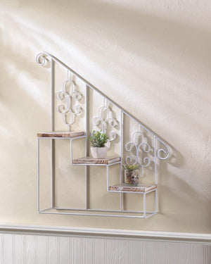 White Stair Steps Wall Shelf - Giftspiration