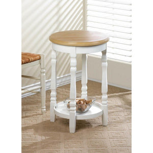 Wood Top Round Accent Table - Giftspiration