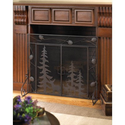 Woodland Wonder Fireplace Screen - Giftspiration