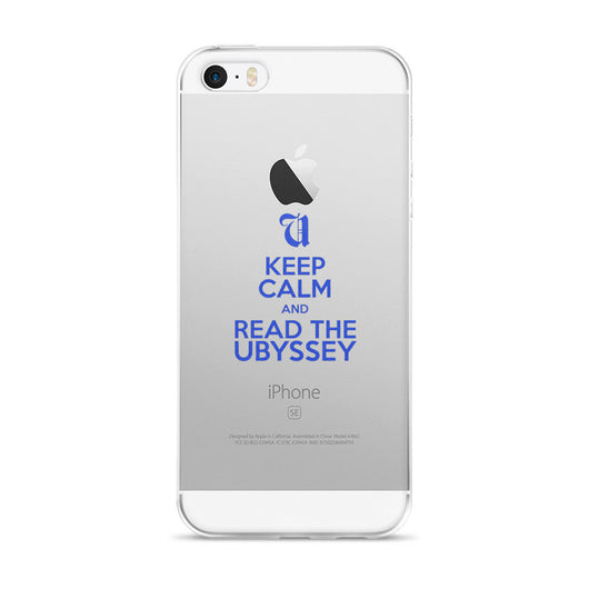 Keep Calm and Read the Ubyssey iPhone case
