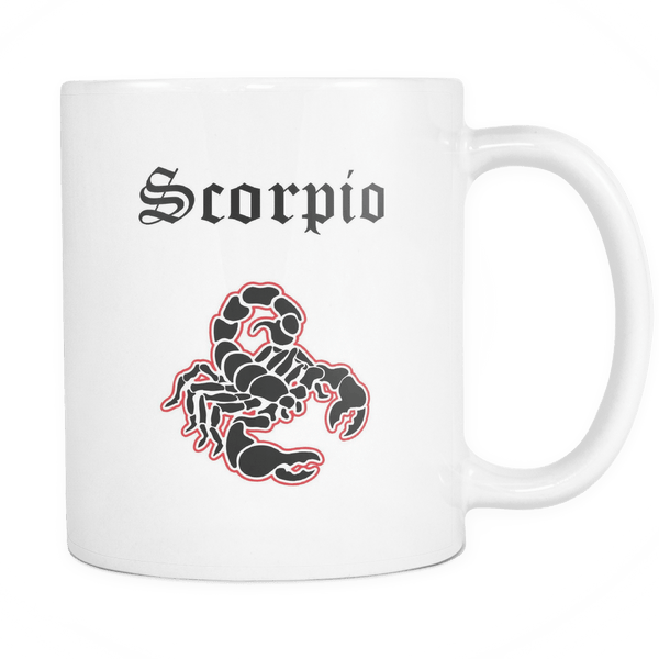 Colorful Scorpio White Mug