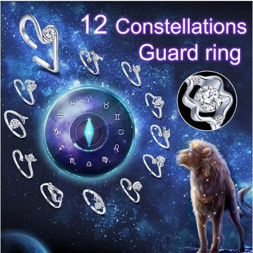 Crystal Zodiac Silver Ring
