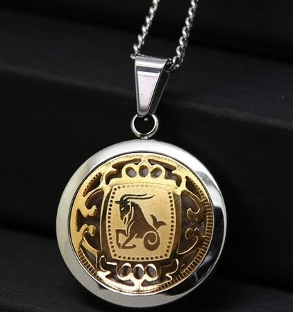 Luxurious Gold & Silver Zodiac Necklace
