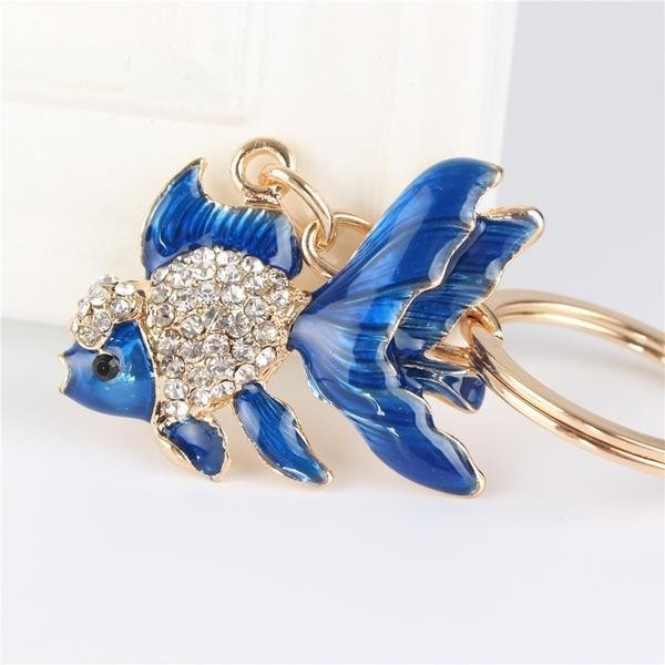 Colorful & Luxurious Pisces Key Chain