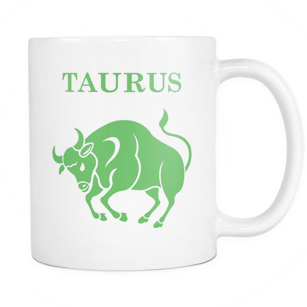 Colorful Taurus White Mug