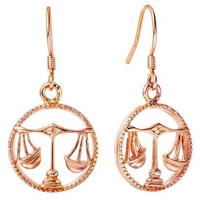 Luxurious Zodiac Rose Golden Earrings - Zody Nation