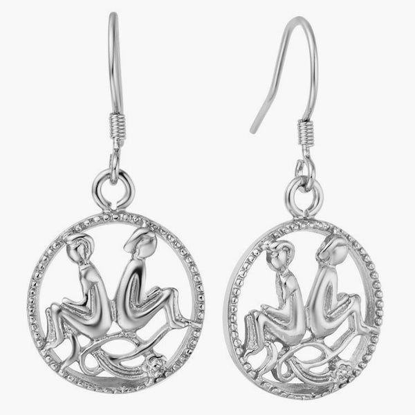Luxurious Zodiac Silver Earrings - Zody Nation