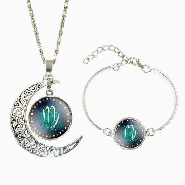 Moon-Shaped Necklace+Bracelet PROTECTION Combo - Zody Nation