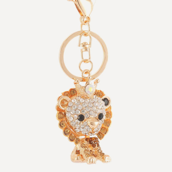 Luxurious Leo Crystal Key Chain