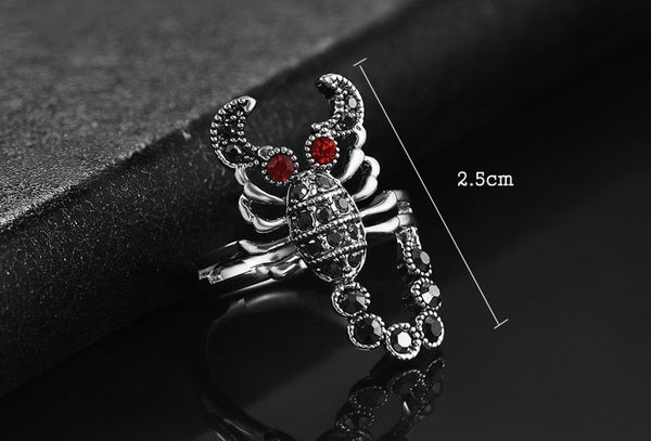 Luxurious Scorpio Crystal Ring
