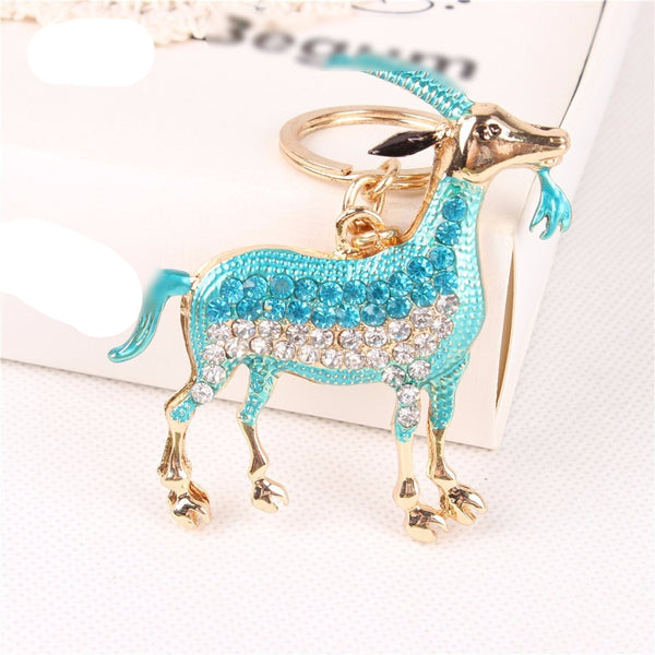 Luxurious Capricorn Key Chain - Blue