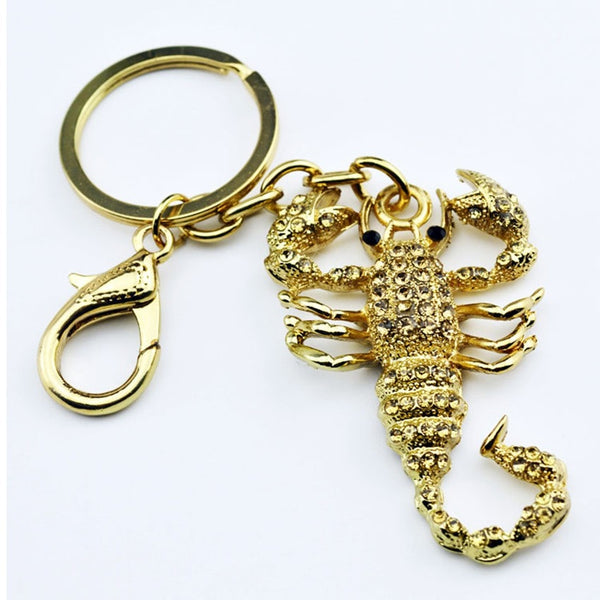 Luxurious Scorpio Golden Key Chain