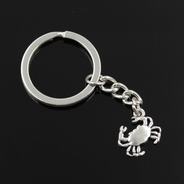 Cancer Silver Key Chain