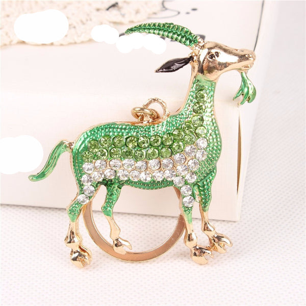 Luxurious Capricorn Key Chain - Green