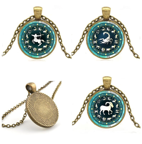 Zodiac Sign Bronze Necklace & Pendant - Zoderia