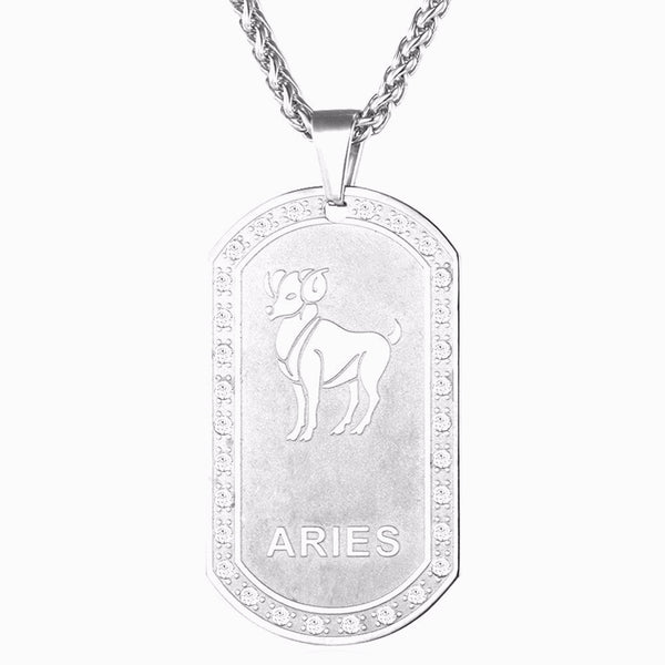 Luxurious Silver Plated Zodiac Crystal Necklace - Zody Nation